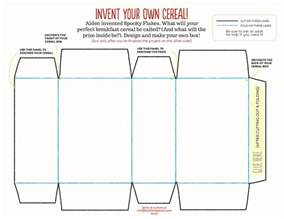 design your own cereal box template tastes really robbi and matthew