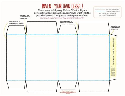 design your own cereal box template