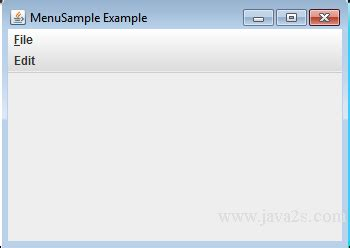 java swing menu bar java tutorial create a vertical menu bar in java
