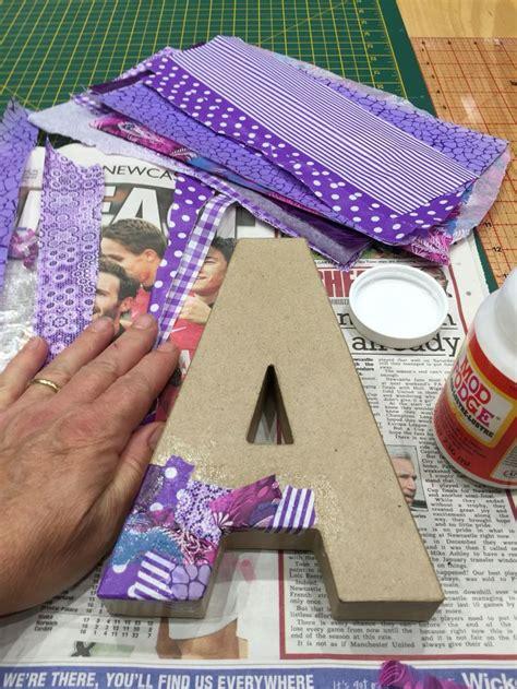 decoupage cardboard letters decoupage on a cardboard 3d letter a diy home decor