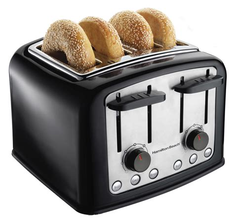 Bagel Toaster New Hamilton 24444 4 Wide Slice Toaster Bagel