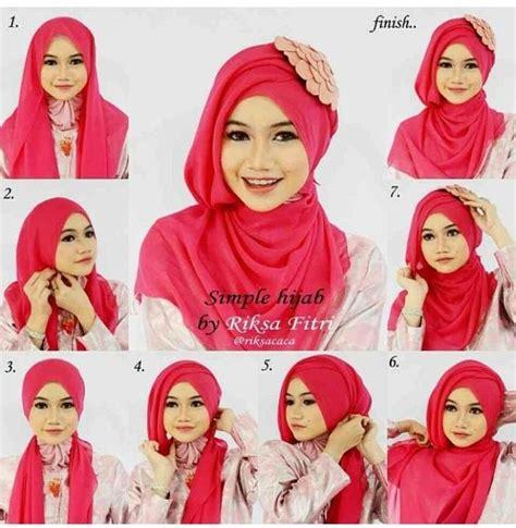 tutorial hijab segiempat najwa how to tie a modern hijab in trendy way hijabiworld