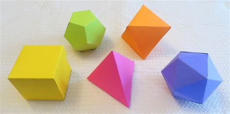 Platonic Solids Origami - there can be only 5 platonic solids hollymath