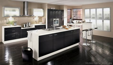 Pictures Of Kitchens Modern Two Tone Kitchen Cabinets Black And Brown Kitchen Cabinets