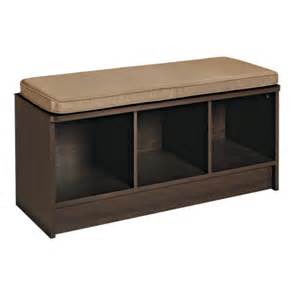 Closetmaid Furniture Closetmaid Espresso Cubeical Bench With 3 Cubes And