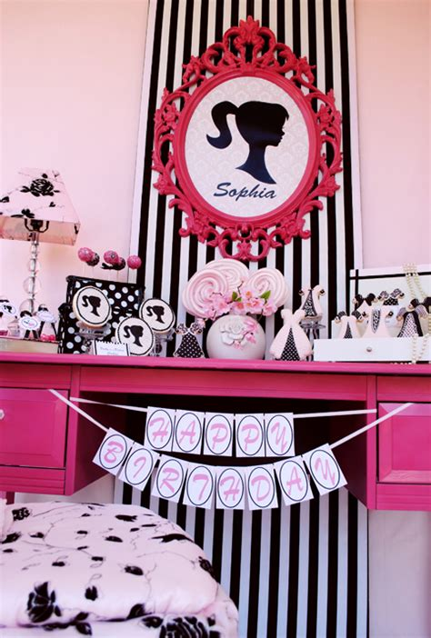 barbie themed birthday party vintage barbie inspired birthday party pizzazzerie