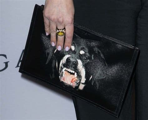 rottweiler givenchy clutch drew barrymore brings a givenchy antigona rottweiler clutch to bvlgari event
