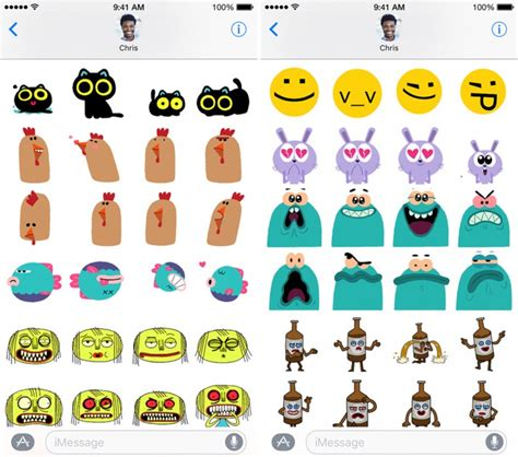 App Stickers Top 10 Sticker Packs For Messages App In Ios 10