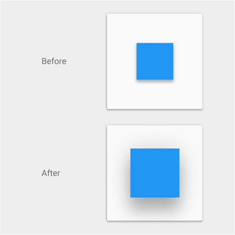 android material design layout shadow elevation shadows material design
