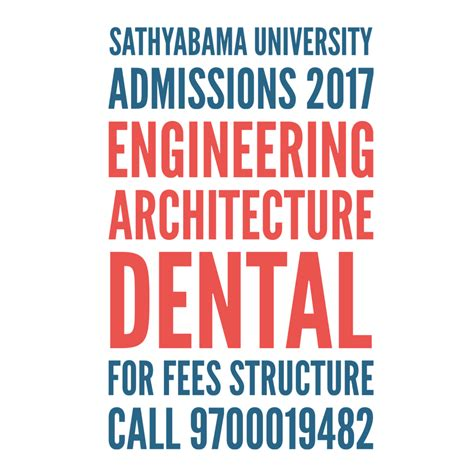 Sathyabama Mba Fees Structure by Sathyabama Admissions 2017 Engineering