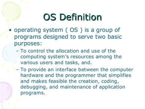 define systemize operating systems