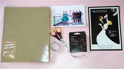 diy wedding album guest book