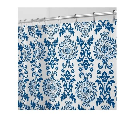 navy fabric shower curtain damask navy fabric shower curtain dorm essentials must