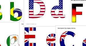 flags of the world lettering flags of the world primary teaching resources and