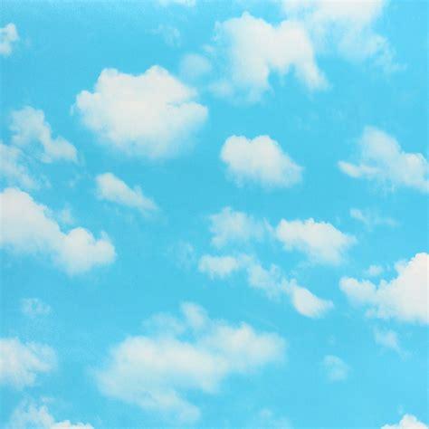 Walpaper Sticker Dinding Awan Putih Biru d 233 coration de la maison moderne pvc papier peint ciel bleu nuages blancs murale pour chambre de