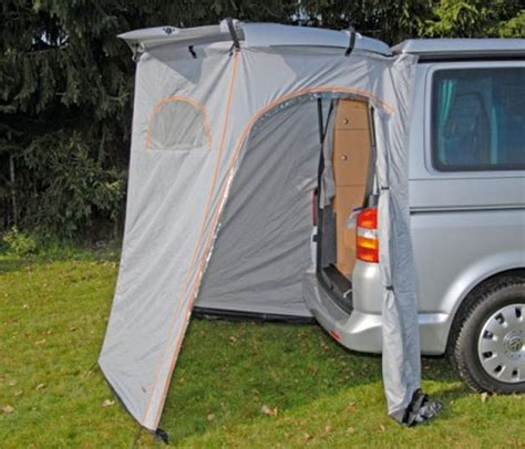 vw transporter tailgate awning cer van tent extension small motorhomes small motorhomes van ideas