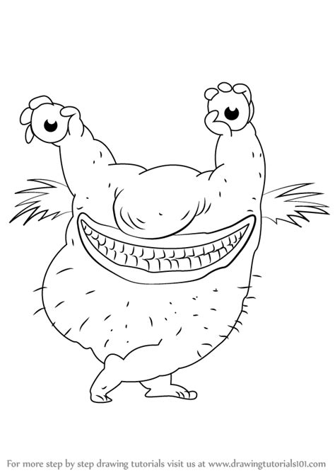 real monsters coloring pages aaahh real monsters free coloring pages