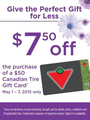 Foodland Gift Card - foodland ontario get 7 50 off 50 canadian tire gift cards until may 7th canadian