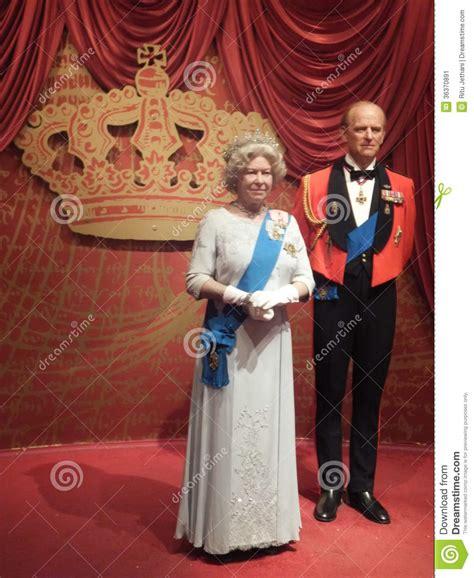 queen elizabeth ii amp prince philip wax statue editorial