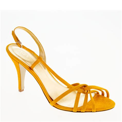 yellow strappy sandals j crew rory strappy sandals in yellow bright marigold lyst