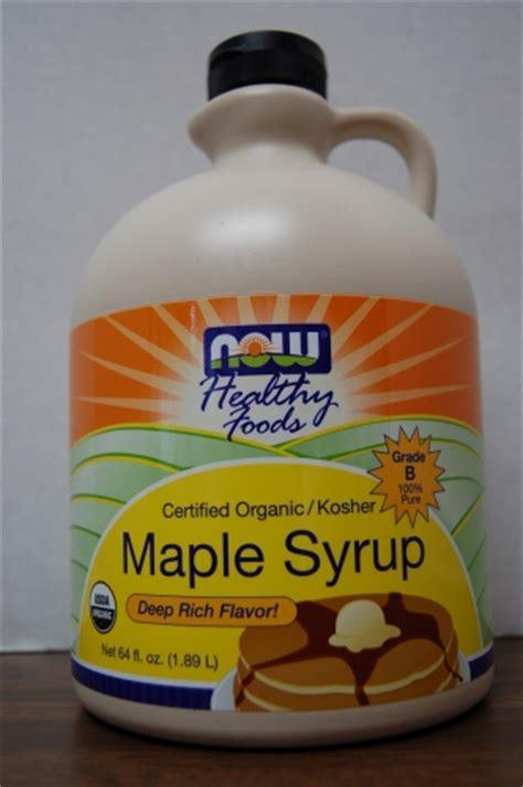 Maple Tree Syrup Detox by Now Maple Syrup Organic Kosher 64 Oz Grade B