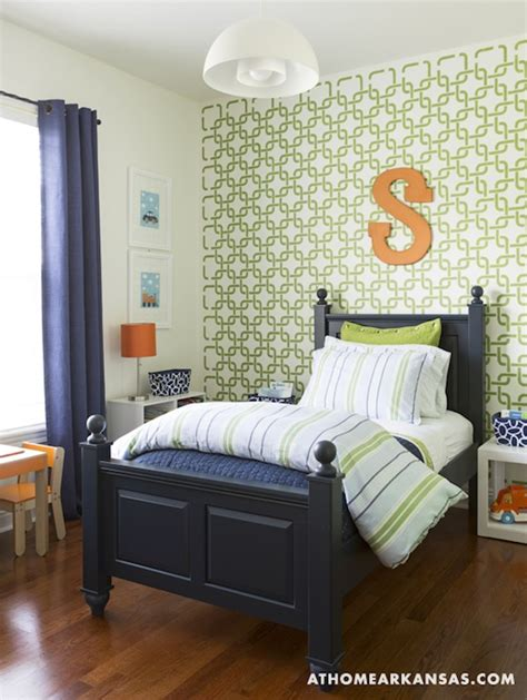 Comforters For Boys Room by Geometric Wall Stencil Boy S Room At