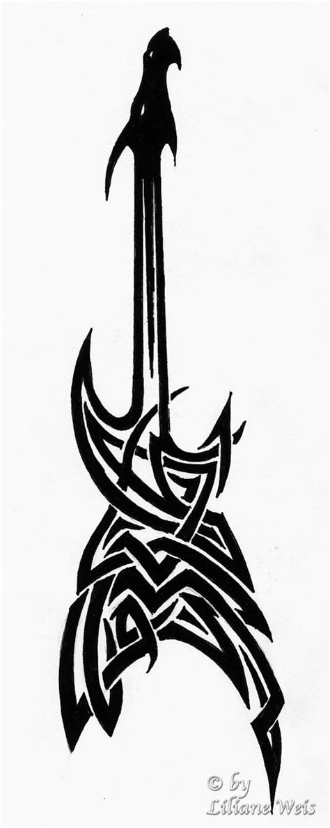 tribal music tattoo guitar by likawei on deviantart dragons