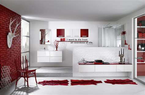 red and white bathroom super stylish bathrooms from delpha