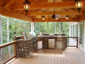 Covered Outdoor Entertaining Areas - rustic outdoor entertaining spacce rustic deck other metro by blackberry creek llc