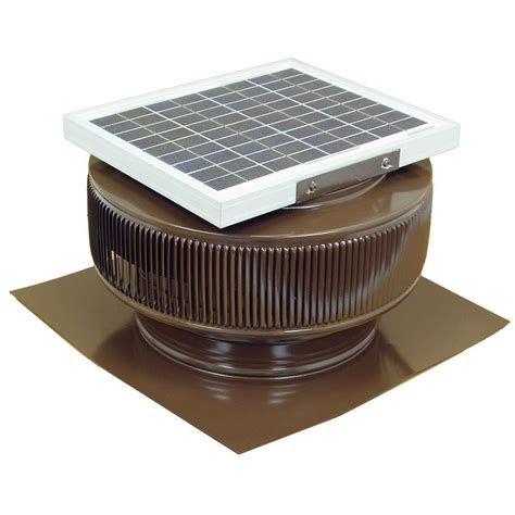solar powered exhaust fan active ventilation 10 watt brown solar powered roof