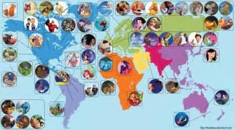 mappa la geografia dei personaggi disney smartweek