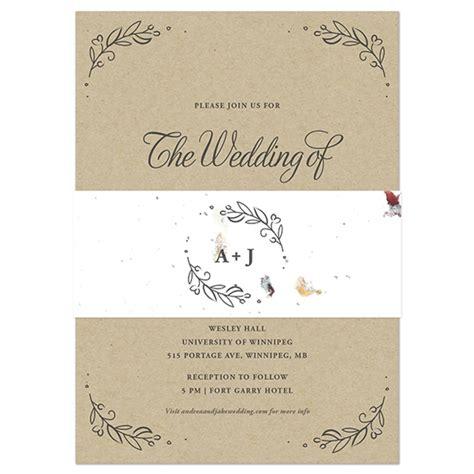 seed paper wedding invitation kits seeds of kraft paper wedding invitations with seed
