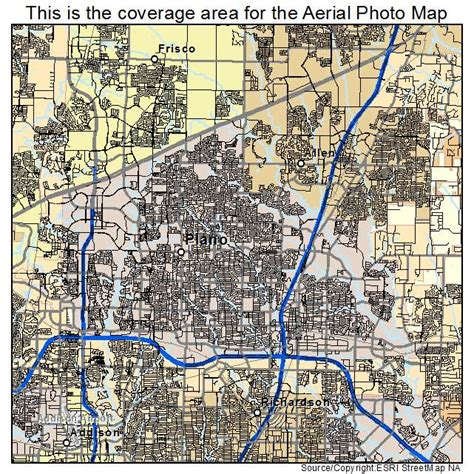 texas map plano aerial photography map of plano tx texas