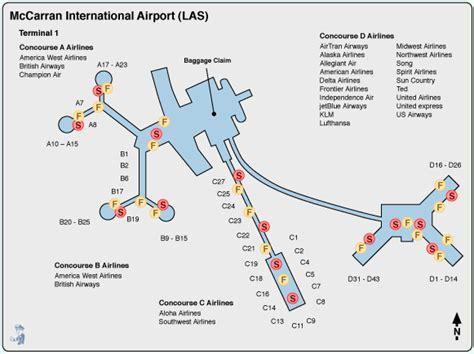 Las Vegas Airport Map by Las Vegas Mccarran Airport Terminal Map Images