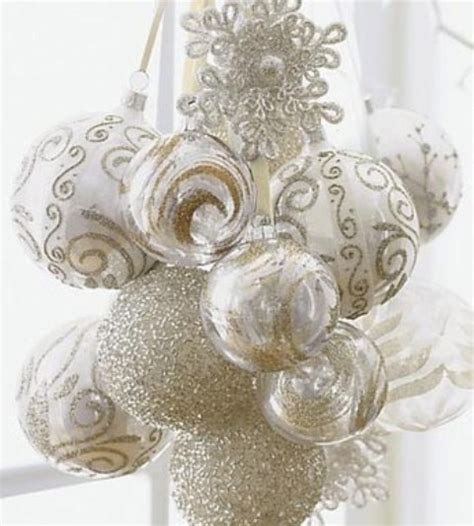 white and gold ornaments pictures photos and images for