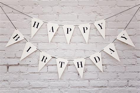 printable happy birthday triangle banner happy birthday banner triangle