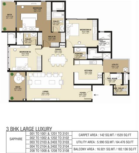 park west floor plan 1520 sq ft 4 bhk 3t apartment for sale in shapoorji