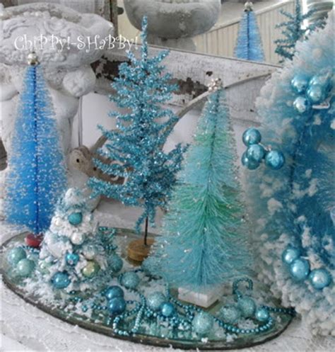 chippy shabby vintage quot blue christmas quot