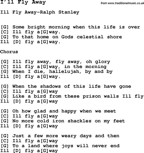 fly away testo song i ll fly away song lyric for vocal performance plus