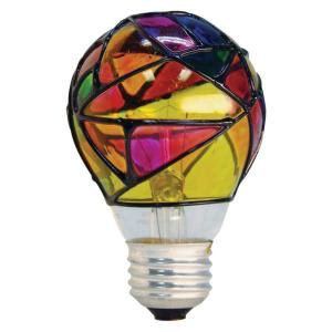 ge  watt incandescent  stained glass light bulb