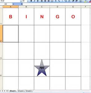Bingo Card Template Excel How To Make Bingo Cards In Excel With Pictures Ehow