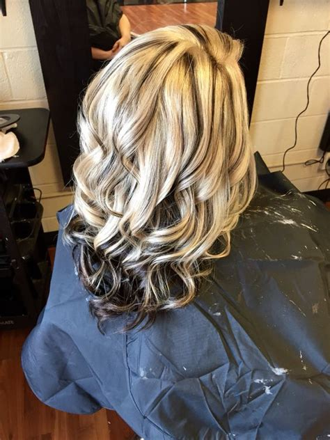 black hair with blonde in the front highlights pictures and dark on pinterest