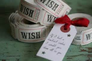 quot a hundred wishes quot ticket rolls with red ribbon tie