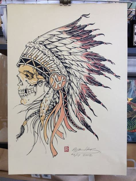 pinterest tattoo indian indian chief skull with warpaint illustration