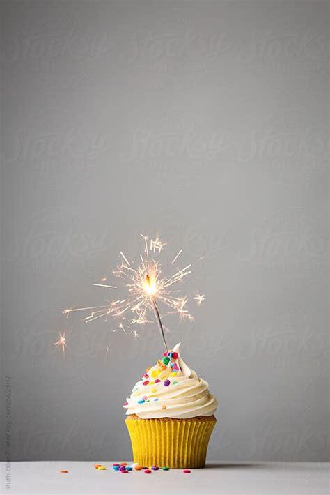 cupcake sparkler grey ruth black birthday