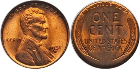 50 most valuable wheat pennies 1931 d lincoln wheat cent coin value facts