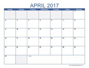 Free Calendar Templates To Print by Free April 2017 Calendar Printable Templates Webelations