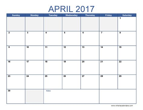 printable calendar months 2017 free april 2017 calendar printable templates webelations