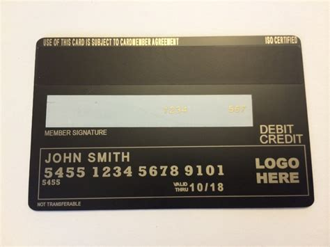 back of credit card template order now metal credit card