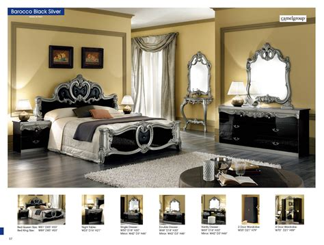 barocco black w silver camelgroup italy classic bedrooms